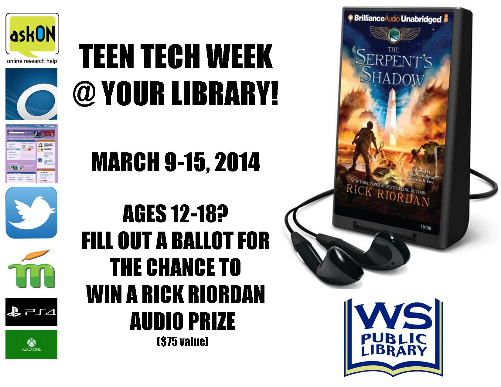 teen tech week sign